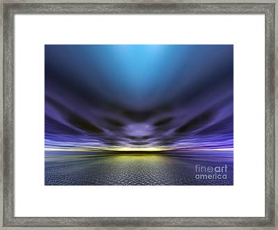 Face In The Clouds Framed Print
