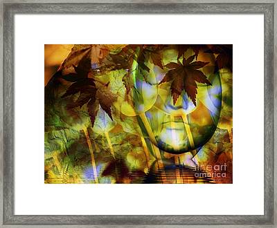 Face In The Rock Dreams Of Tulips Framed Print