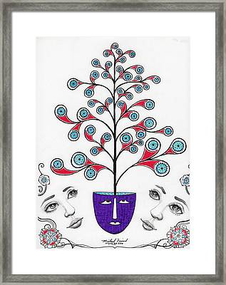 Face It There Are  Eyes Upon You Framed Print by Michael Friend