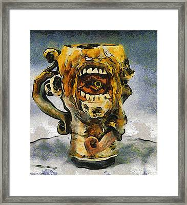 Face Mug By Face Jug  Framed Print