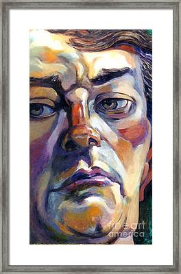 Face Of A Man Framed Print by Stan Esson
