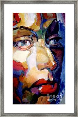 Face Of A Woman Framed Print by Stan Esson