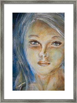Framed Print featuring the painting Face Of An Angel by Nik Helbig