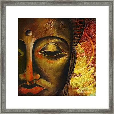 Face Of Buddha  Framed Print