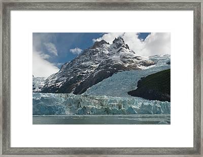 Face Of Glacier, Los Glaciares Framed Print
