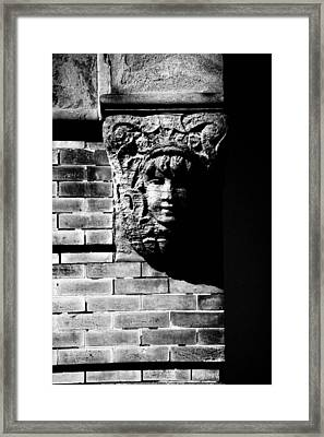 Face Of Stone Framed Print by Karol Livote
