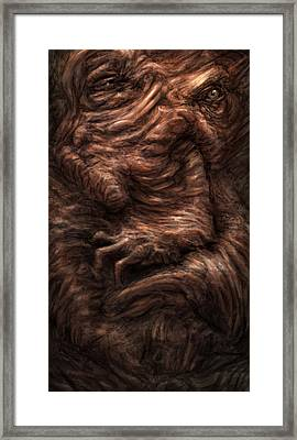 Face Of The Beast Framed Print by Ethan Harris