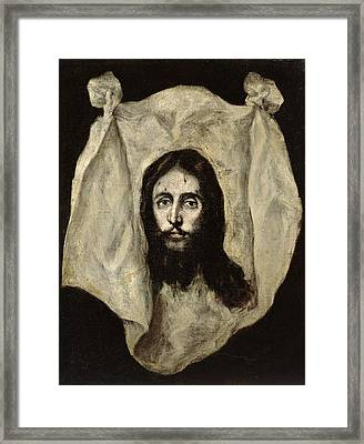 Face Of The Christ Framed Print by El Greco