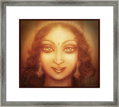 Face Of The Goddess/ Durga Face Framed Print