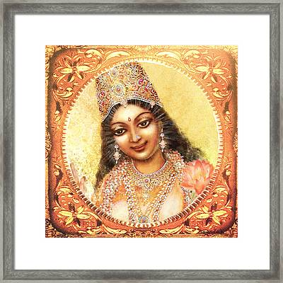 Face Of The Goddess - Lalitha Devi  Framed Print