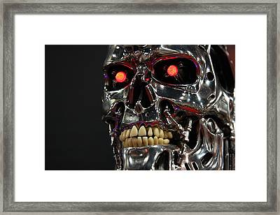 Face Of The Machine Framed Print by Nathan Rupert