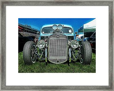 Face Of The Rat Rod Framed Print