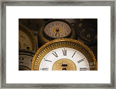 Face Of Time Framed Print by Tom Gari Gallery-Three-Photography