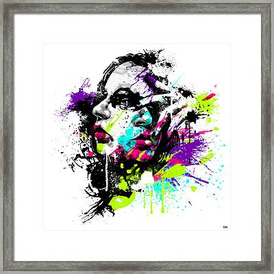 Face Paint 1 Framed Print by Jeremy Scott