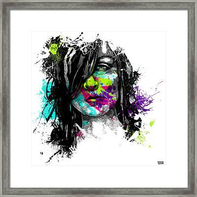 Face Paint 3 Framed Print by Jeremy Scott