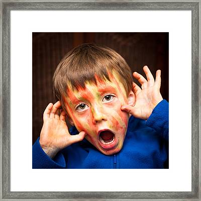 Face Paint Framed Print by Tom Gowanlock