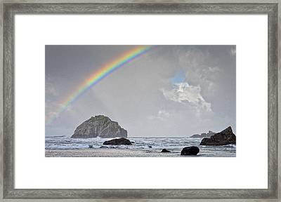Face Rock Rainbow Framed Print by Kevin Munro