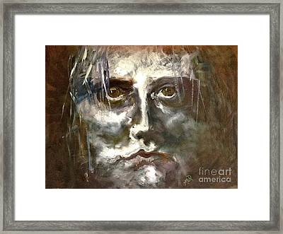 Face Series 1 Framed Print by Michelle Dommer