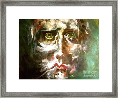 Face Series 2 Framed Print by Michelle Dommer