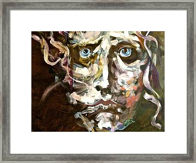 Face Series 3 Framed Print by Michelle Dommer