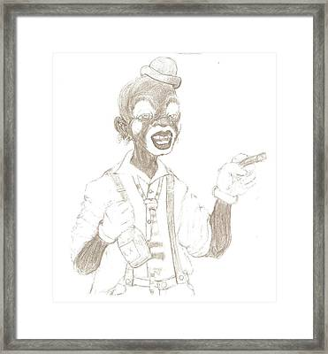 Face The Clown Framed Print by George Harrison