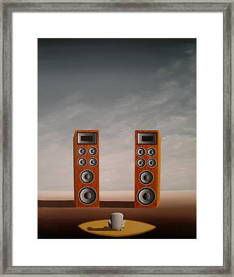Face The Music Framed Print