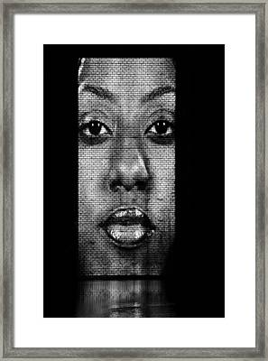 Face To Face - Crown Fountain Chicago Framed Print