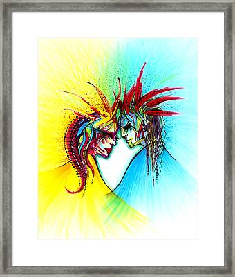 Face To Face II Framed Print by Andrea Carroll