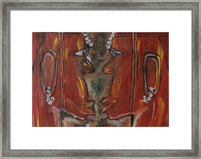 Framed Print featuring the painting Face To Face by Lucy Matta