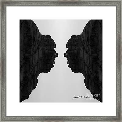 Face To Face Montage II Framed Print by Dave Gordon