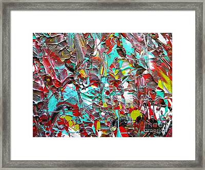 Face To Face Myeloma Framed Print