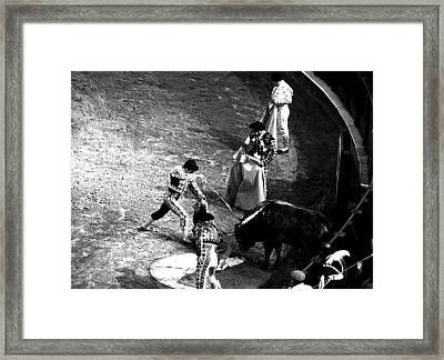 Face To Face With The Death  Framed Print by Laura Jimenez