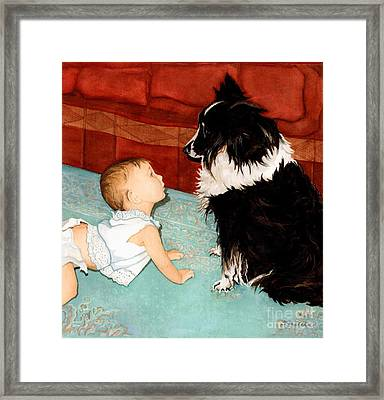 Face-to-nose Framed Print