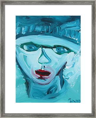 Face Two Framed Print by Shea Holliman