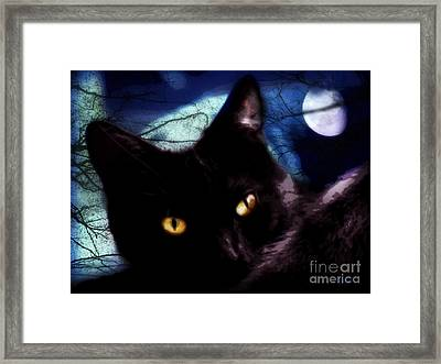 Framed Print featuring the digital art Face Your Fears  by Mindy Bench