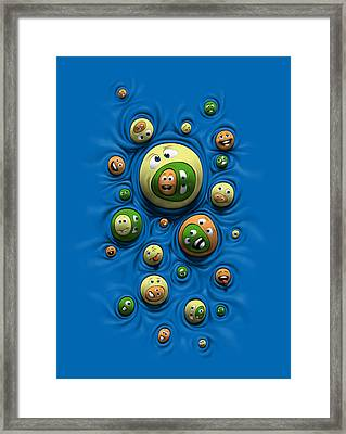 Framed Print featuring the digital art Emoticontagious by Ben Hartnett
