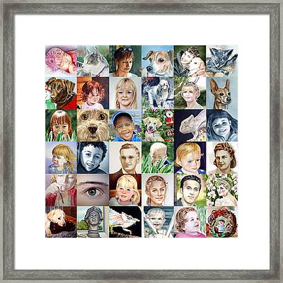 Facebook Of Faces Framed Print