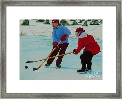 Faceoff Framed Print by Anthony Dunphy