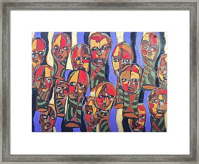 Faces # 11 Framed Print