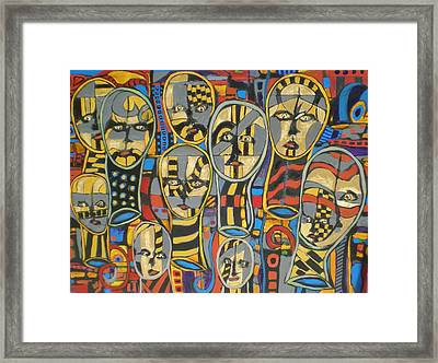 Faces #1 Framed Print