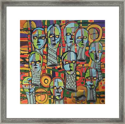 Faces #4 Framed Print