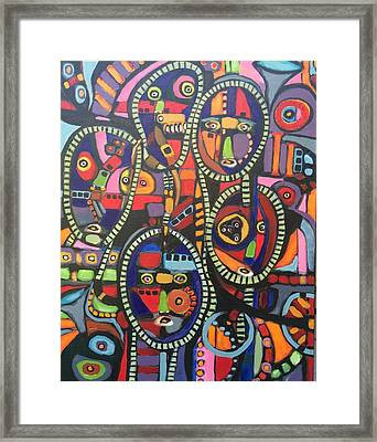 Faces #9--sold Framed Print
