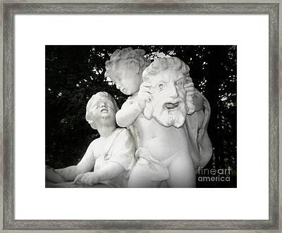 Faces Framed Print by Angel Sousa