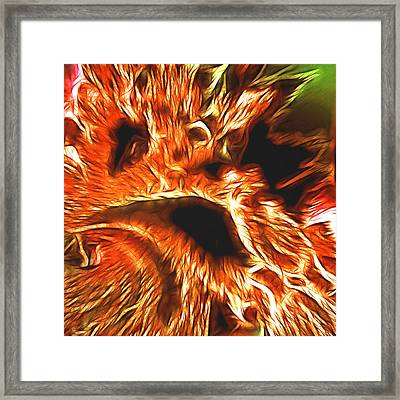 Faces From Hell Framed Print by Sharon Lisa Clarke