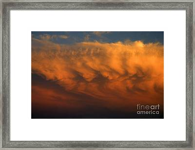 Framed Print featuring the photograph Faces In The Clouds by Ron Chilston
