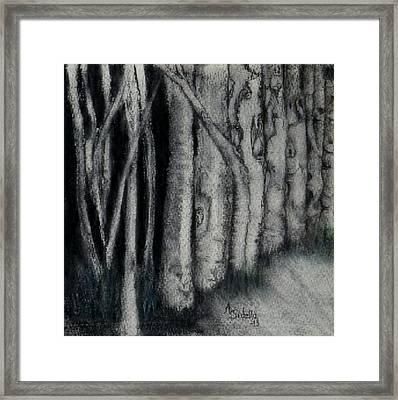 Faces In The Night Framed Print