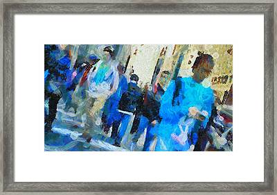 Faces In The Street Framed Print by Dan Sproul