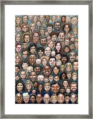 Faces Of Humanity Framed Print by Kevin Middleton