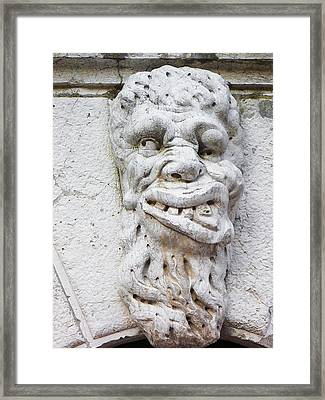 Faces Of Venice  Framed Print