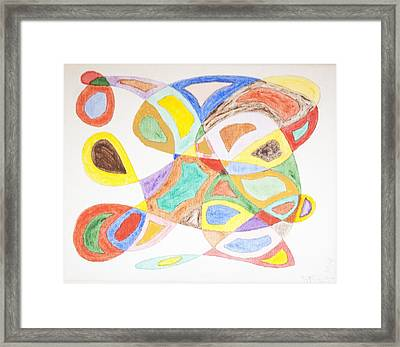 Framed Print featuring the painting Masks by Stormm Bradshaw